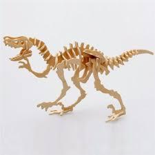 t rex dinosaur skeleton 3d woodcraft hobby wooden model laser cut puzzle kit us