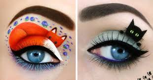 crazy eye makeup art wallpaper
