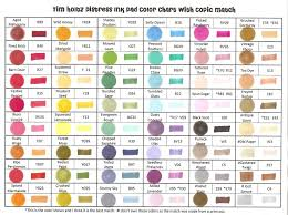 Copic Chart Printable Raining Grace Distress Ink Pads And Copic Marker Match Up