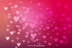 Glowing Bokeh Hearts Wedding Background Vector Download