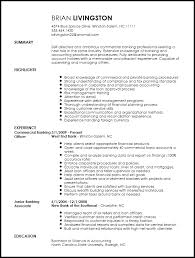 Free Professional Banking Resume Template Resume Now