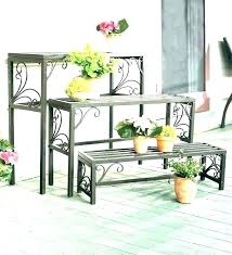 outdoor patio plant stands elegant wrought iron stand must have rod diy outdoor corner plant stand