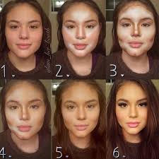 cheek contour before and after. pinner said: full steps below 1\u20e3starting from the nostrils draw a line upwards past lash and extended almost to hairline 2\u20e3add conto\u2026 cheek contour before after f