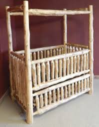 rustic crib furniture. rustic canopy convertible log baby crib furniture