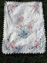 Vintage Fabrics —How to Care for Old Textiles | HobbyLark & Old quilt after cleaning Adamdwight.com