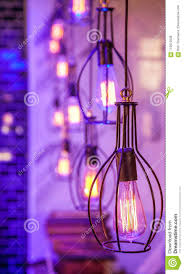 Wire Frame Light Fixtures Light Fittings In Purple Room Stock Photo Image Of Idea