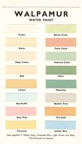 Walpamur Colour Card From 1950 Uk In 2019 Paint Swatches