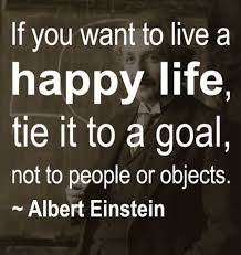 working on a new me if you want to live a happy life tie it to a goal not