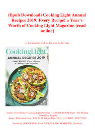 Cooking Light Online Recipes Epub Download Cooking Light Annual Recipes 2019 Every