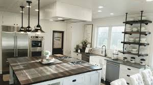 Kitchen Design 7 X 8 White Shiplap Kitchen With Large 7x8 Reclaimed Wood Island