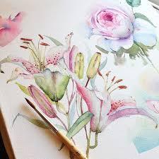 Сегодня не только розы ура watercolour flowerswatercolor artistswatercolor tutorialswatercolour paintingsflower