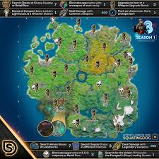 Fortnite Forged In Slurp Cheat Sheet Map Locations Hidden