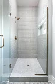 glass subway tile shower walk in shower with gray glass subway tiles and white marble grid glass subway tile shower