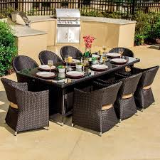providence 9 piece resin wicker patio dining set by lakeview outdoor