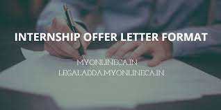 Unpaid Internship Offer Letter Internship Offer Letter Format In India Download Myonlineca