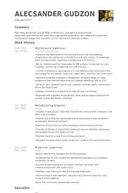 Maintenance Manager Resume Supervisor Samples Fresh Concept But