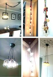 plug in chandelier lighting alluring plug in swag lamps of crystal chandelier light