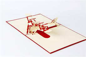 Birthday Cards Design For Kids 3d Handmade Pop Up Greeting Cards Plane Design Thank You Airplane