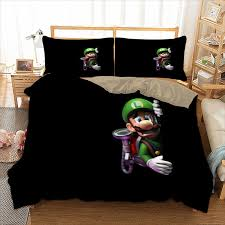 3d super mario bros luigi duvet cover bedding set pillow case quilts cover sets