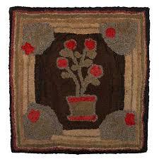 antique hook rug