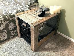 dog crate furniture s indoor uk double diy white wood
