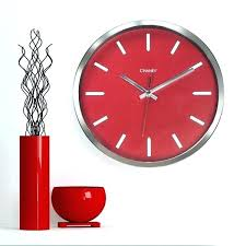 chaney wall clock free red vector image vectors inch modern chrome large clocks instruments chaney wall clock