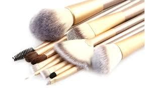 professional makeup brush set with storage case 13 piece
