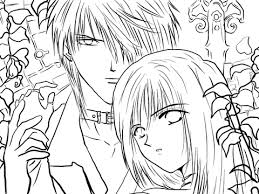 Touya And Aya Mikage From Ceres Celestial Legend Manga Coloring