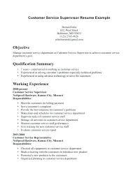 Objectives For Customer Service Resume Skills List Sample Writers