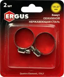 <b>Хомут обжимной</b> ERGUS 14-27мм. <b>нержавеющая сталь</b>. 2шт в ...