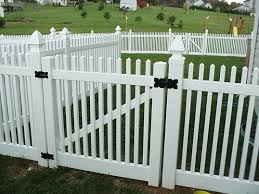 Vinyl fencing Pool Whitevinylclassicpicketgate Penn Fencing Vinyl Fencing Installation Vinyl Fence Styles Frederick Fence