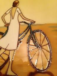 her bike wall art 8 x 8 boxed bnib