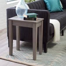 rectangle end table. Turner Chair Side Table - Gray Rectangle End