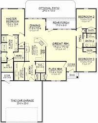 floor plan of a one story house one story 3 bedroom house plans 5 floor