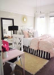 What classy teen room decor Loving the black and white strips with the pop  of Home Decor-What classy teen room decor! Loving the black and white  strips with ...