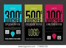 coupon design voucher design discount coupon vector photo bigstock