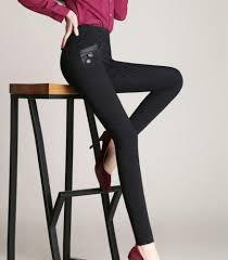 Nudie Slim Jim Size Chart Regular Spring Elastic Waist Women Trousers Vintage Pencil