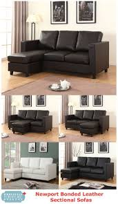 furniture for condo. newport bonded leather sectional with chaise by urban cali at wholesale furniture brokers designed for small spaces perfect condos and apartments condo
