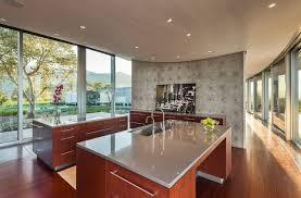 kitchen modern kitchen idea in santa barbara with a single bowl sink and quartz