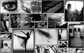 black and white photo collage | good beautiful ballerina myspace layout  blackgray and pink ballerina .