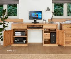 conran solid oak hidden home office. Mobel Oak Hidden Home Office Oak. Baumhaus Large Twin Pedestal Conran Solid C