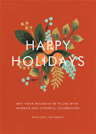 Design Holiday Cards Online Orange Cluster Holiday Greeting Online At Paperless Post