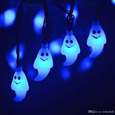 halloween outdoor lighting. Ghost Led String Light Halloween Decorations 30 Solar Powered Steady/Flickering Outdoor Lights Party Bulb From Lighting O