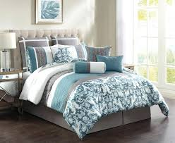 king size bedding teal and white sets fluffy bed comforter green duvet spread gray blue cover