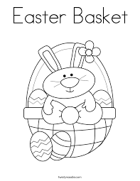 Small Picture Easter Basket Coloring Page Twisty Noodle