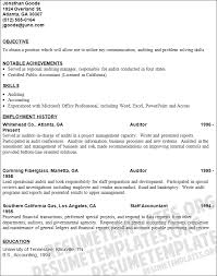 accountant resume objective examples  staff accountant resume    auditor resume objective examples