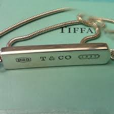 tiffany co 1837 bar pendant 18 snake necklace sterling silver 100 genuine 1 di 8 vedi altro
