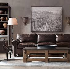 restoration hardware leather sofa within original lancaster design 17