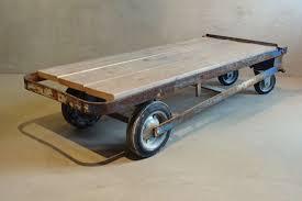 industrial warehouse stone trolley
