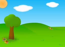 green grass field animated. Cartoon Landscape Green Grass Field Animated